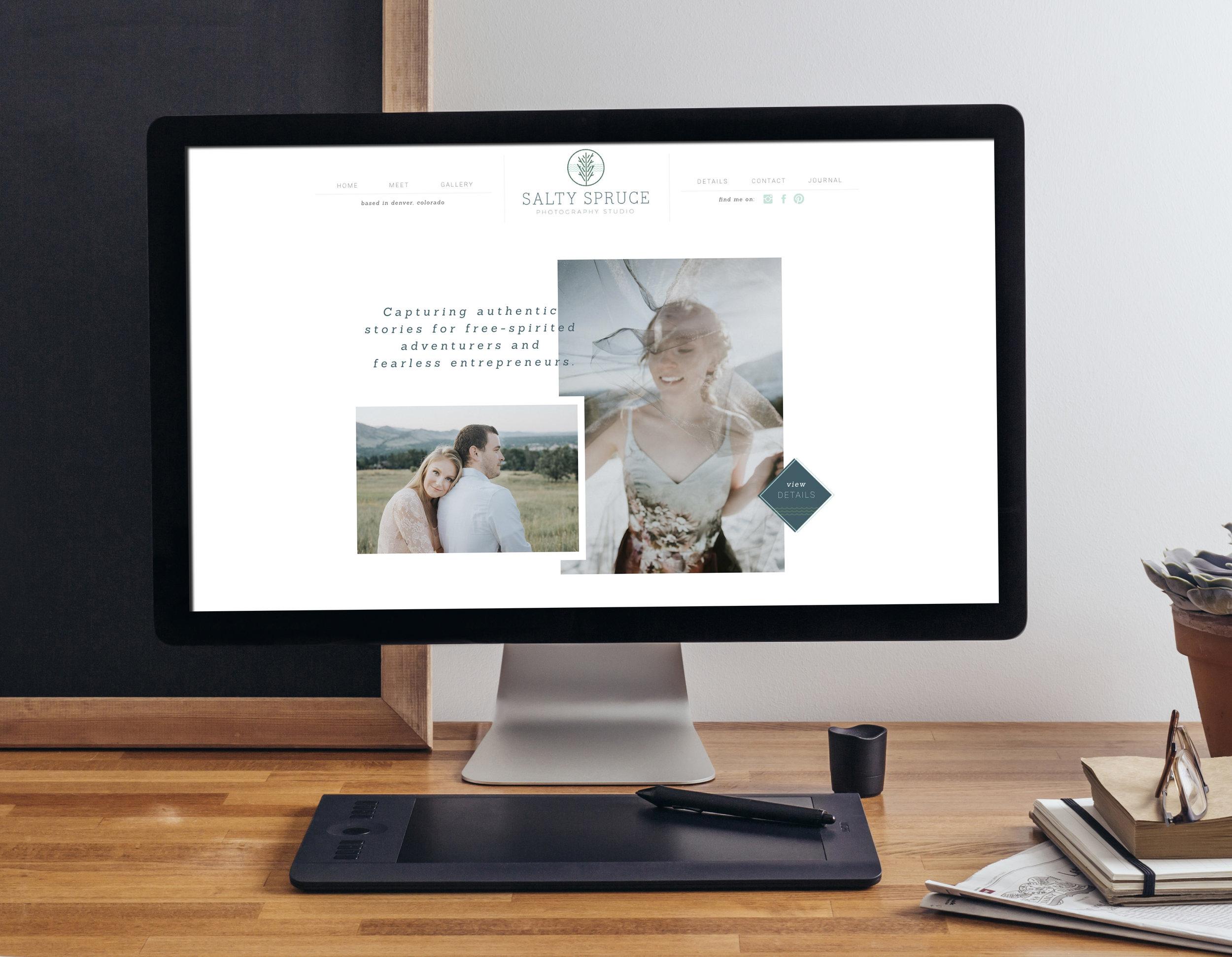 Salty Spruce Photography Studio Website Design
