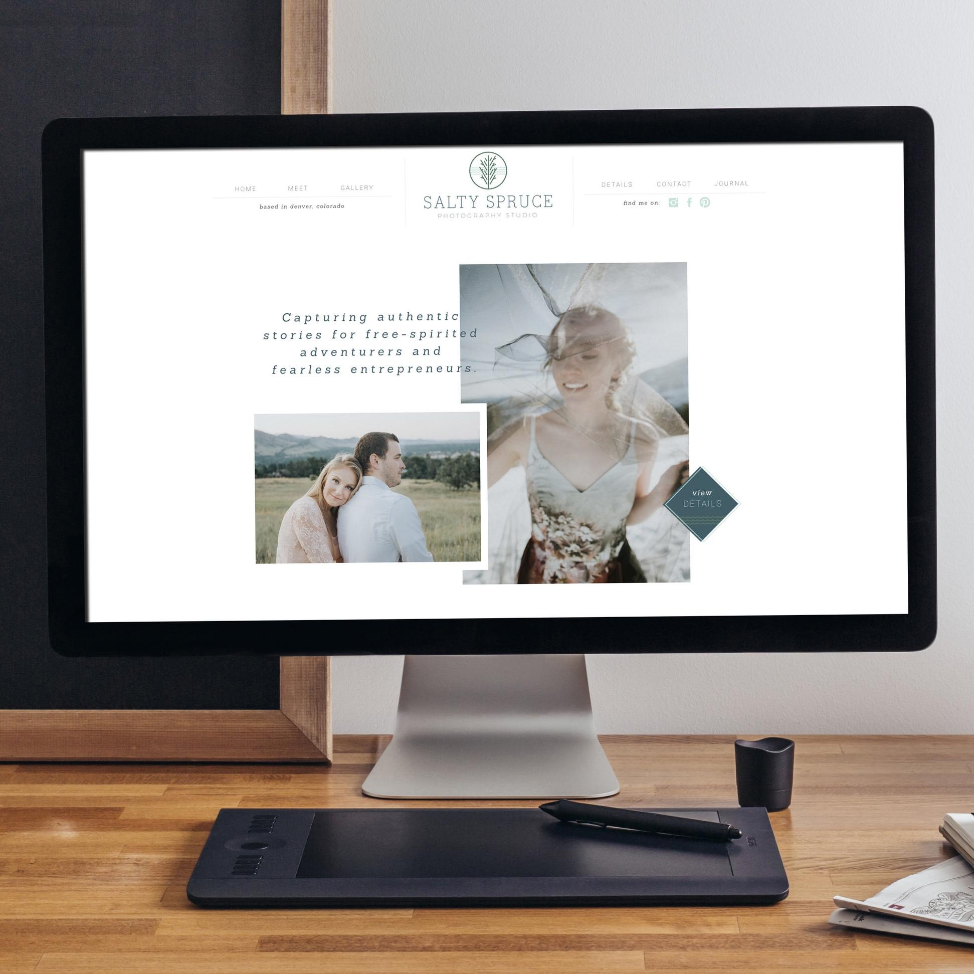 Salty Spruce Rebrand and Website Design