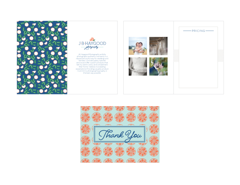 Photographer collateral design