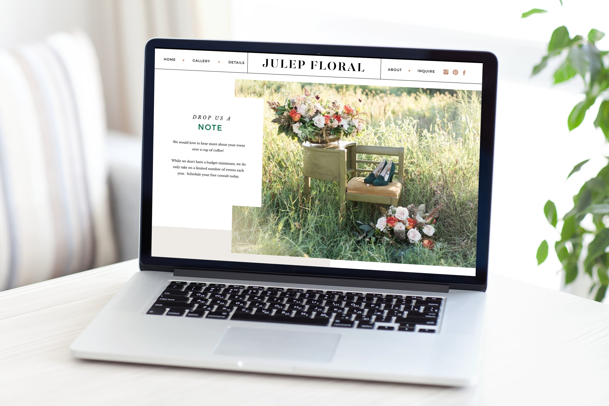 Julep Floral Branding and Website