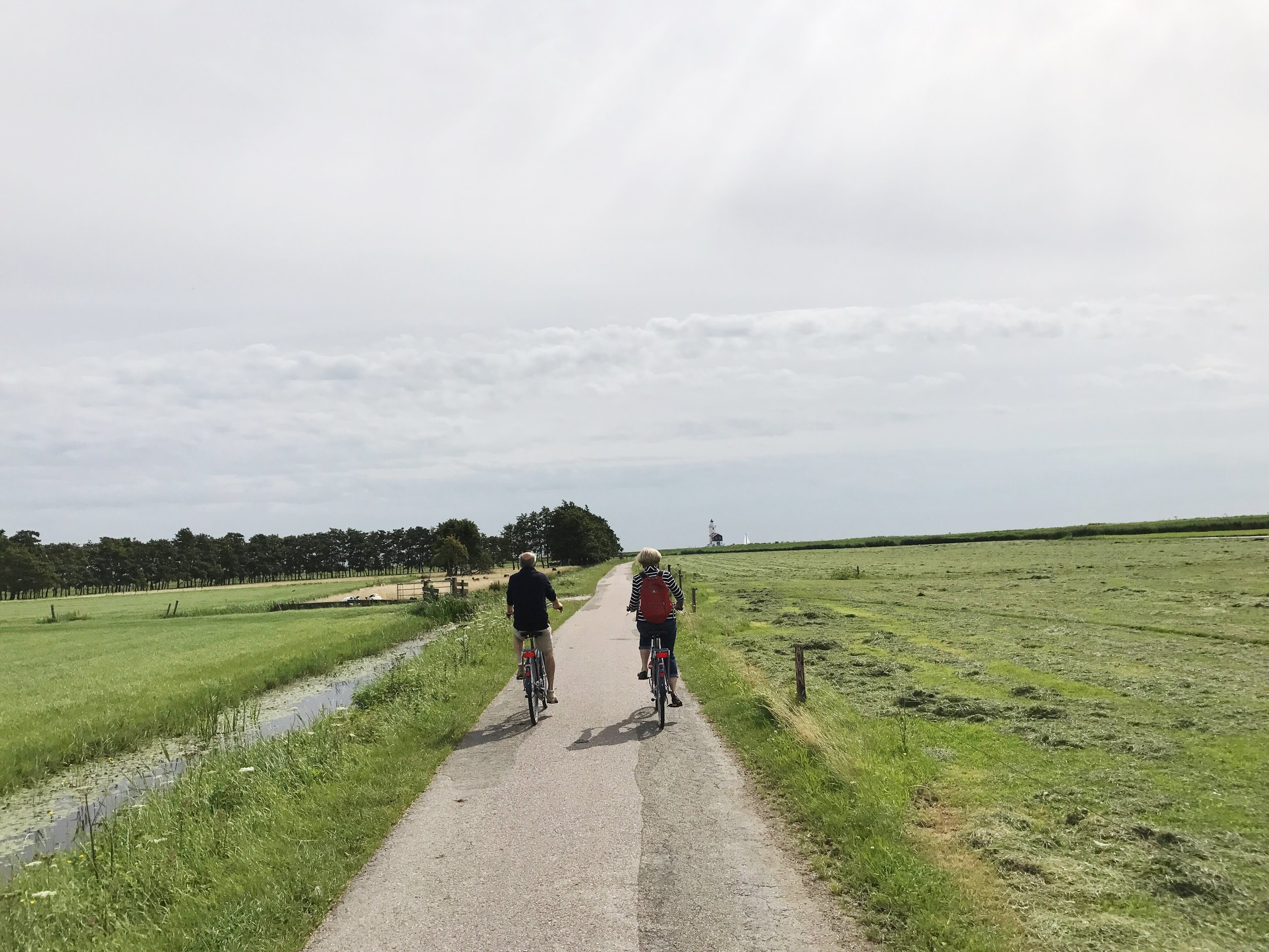 Biking in Marken Netherlands