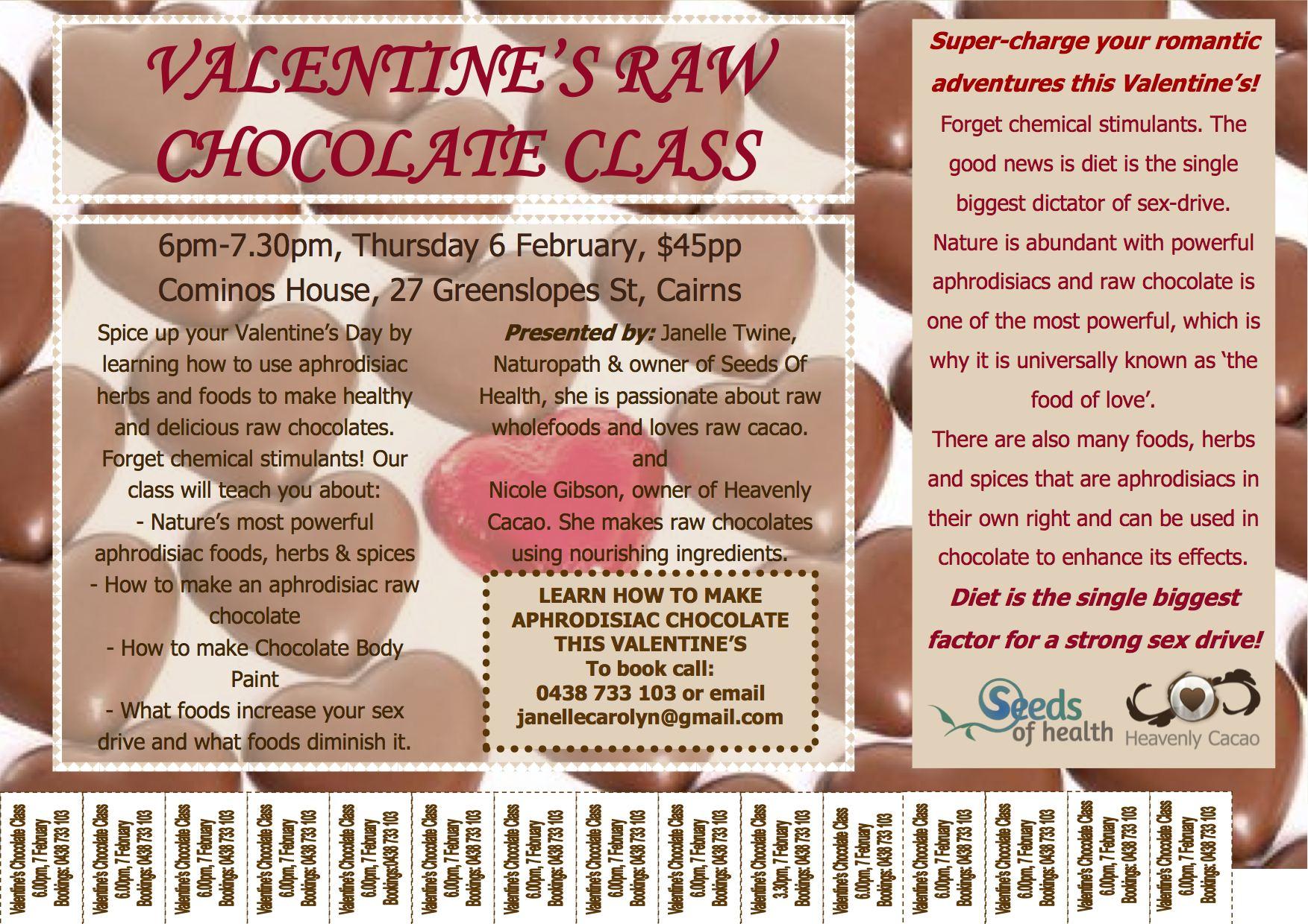 Valentine's Day Raw Chocolate class