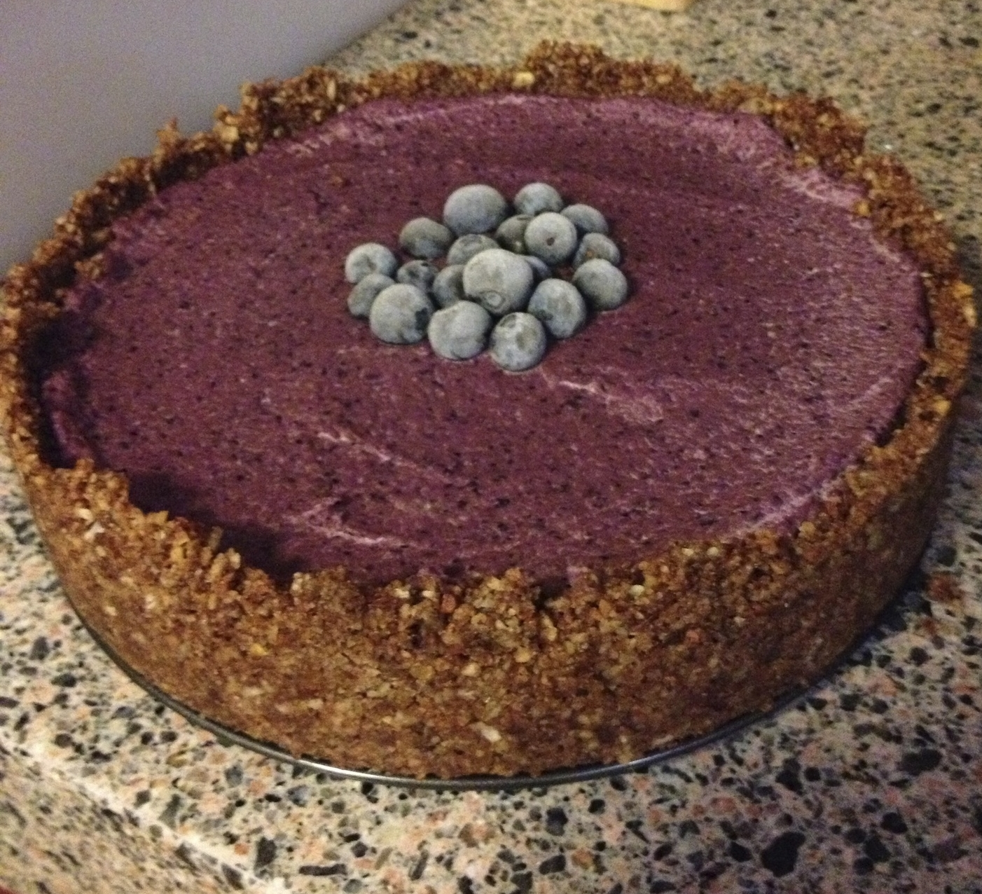 A delicious raw cake from The Real Food Chef cookbook - made last Christmas day.