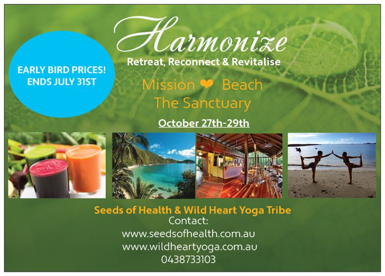 HARMONIZE 3 DAY RETREAT, Mission Beach October 2017
