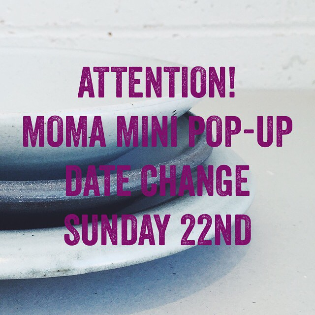 We were all ready to pop-up this Sunday @momahobart but have had to put the breaks on and will try to contain ourselves until next weekend. We will absolutely, definitely and for sure be popping-up @momahobart on Sunday the 22nd of Feb. This is a good thing as it gives us a whole extra week to gather goodies for you. @lindseywherrett @touchingspace @ponyblackco @bendbeames @dazzenhar