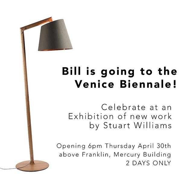 Stuart Williams of @touchingspace has been selected as one of only 5 Australian designers whose work will be represented in the Australia pavilion at the upcoming Venice Biennale. He is celebrating with a show of recent work and the opening is TODAY!!!!! In a beautiful space above Franklin, come along at 6pm.