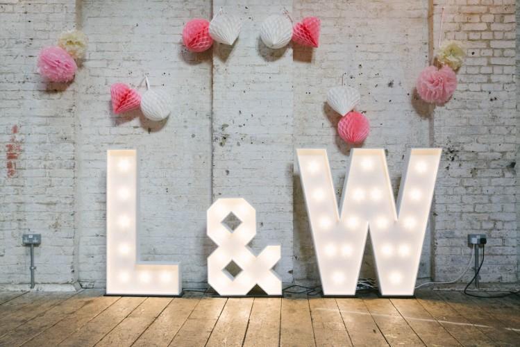 Lauren & Will Light Up Letters