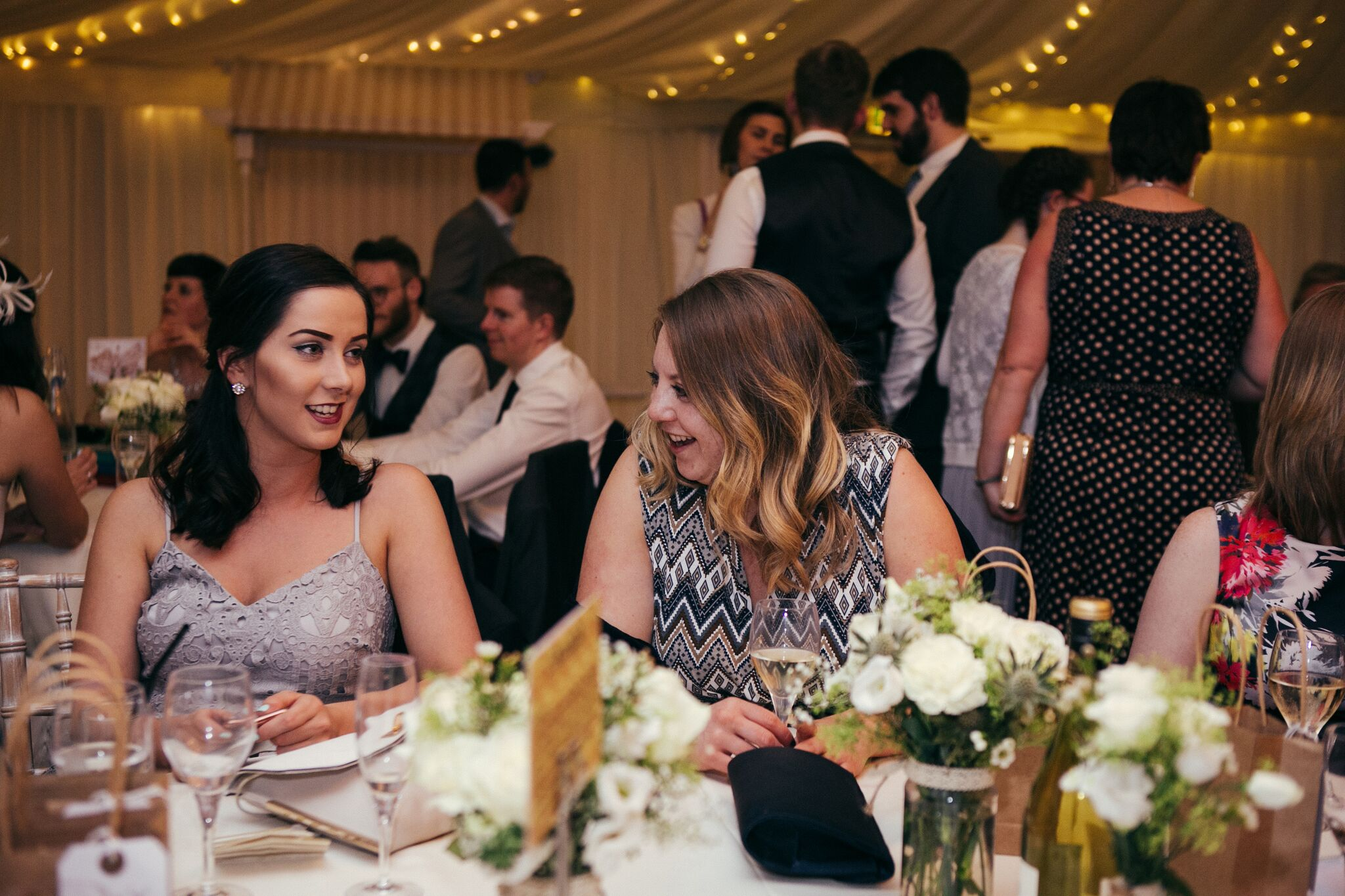 Jen and Tom's Wedding Guests Mingling