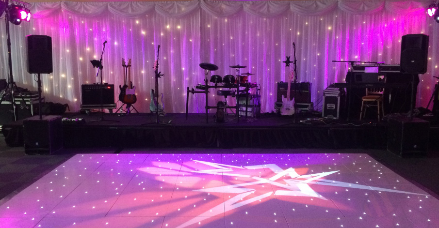 band for hire with star lit backdrop