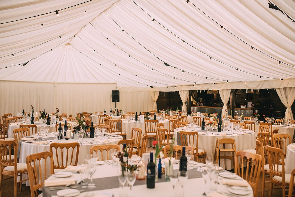 The night yard wedding venue marquee in kent