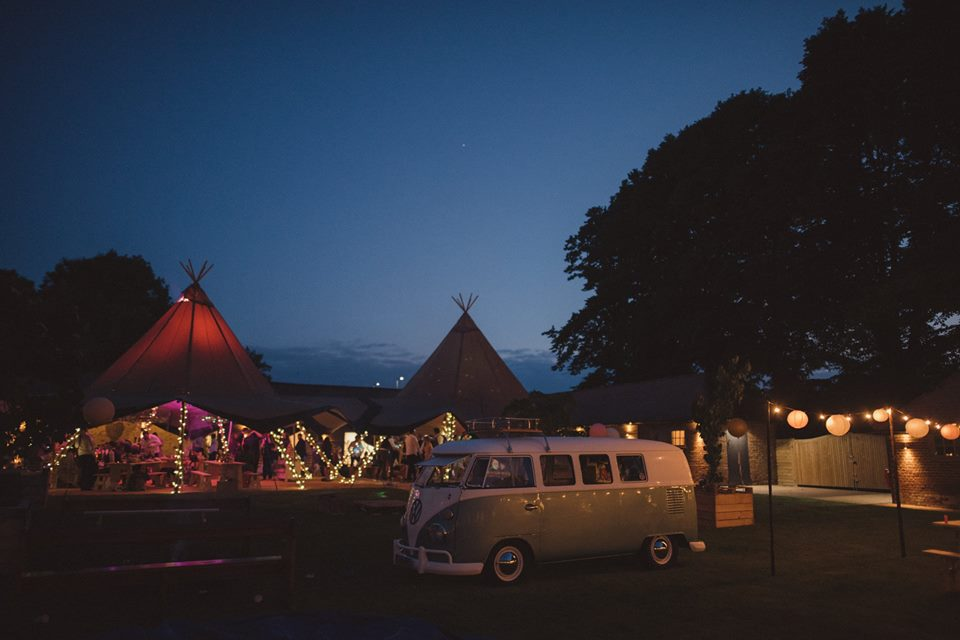 The Night Yard Marquee Wedding Venue Kent South East England camper van
