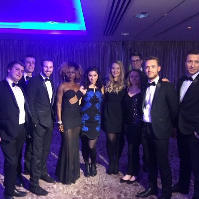 The 10pc Big Band for full impact at Air Cargo Media Awards @royallancasterlondon Bow ties at the ready with bangers like Shackles, Kiss & Cheerleader to get those award winning feet jigging! #partyband #corporateband #functionband #bigband #horns #tux #london #eventprofs #tsc #thesupremecollective #5star