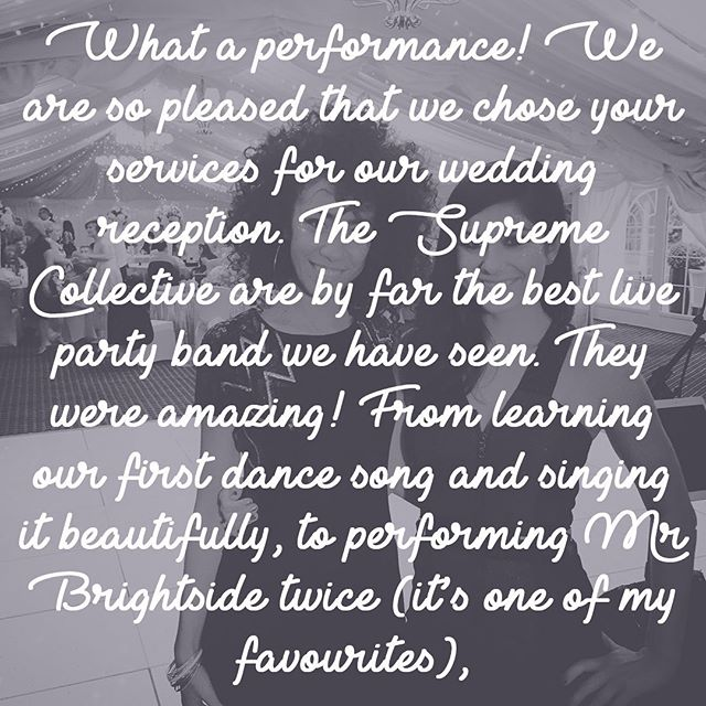 Happy anniversary to Maria & Tim! It was an absolute pleasure organising the entertainment for your big day. Lots of ❤️ from all of us at TSC. . . . #weddingband #ukweddingband #weddingbanduk #englishwedding #happyanniversary #love #review #feedback #hampshirewedding #audleyswoodhotel #basingstoke #brass #horns #bigband @audleyswood.hotel