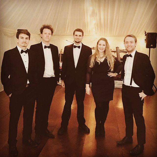 And here's the band that performed for Sophie & Chris in their full glory, bow ties, braces, the lot! . . . #bowties #weddingband #ukweddingband #weddingbanduk #ukcoverband #coverband #coverbanduk #londonwedding #londonweddingband #tothenines #musiciansofinstagram #happyanniversary