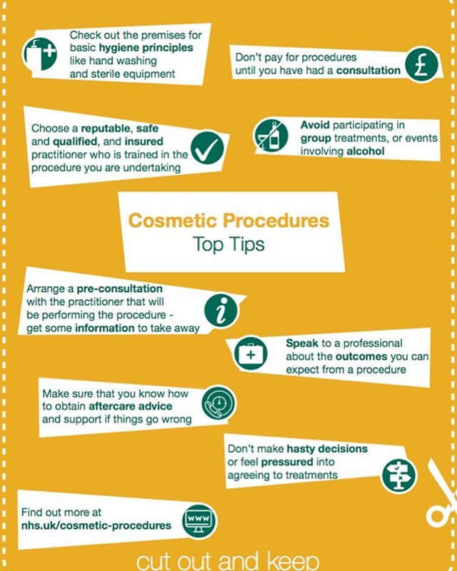 The Department of Health and Social Care (DHSC) has today launched a consumer campaign that is designed to ensure that members of the public are aware of the risks associated with cosmetic procedures.  The campaign includes print and digital content featured in consumer publications Heat, Closer and Grazia and aims to signpost people to advice and guidance on the NHS website when they are considering a cosmetic procedure.  According to the Department of Health, the advice and information for patients is applicable for all types of procedures, however the advice specifically focuses on botulinum toxins, dermal fillers, breast augmentation, liposuction and laser and light treatments.  The advice published on the NHS website sets out the questions that people should ask before undergoing any procedure and provides tips on what to consider. It includes factors such as speaking to a professional about what to expect, choosing a reputable, safe and qualified practitioner and advice on avoiding hasty decisions or feeling pressured.  A statement published by the DHSC acknowledged that the government is also working with stakeholders, such as independent accreditation body Save Face and the Joint Council for Cosmetic Practitioners (JCCP), and is exploring options to strengthen the regulation of cosmetic procedures to improve standards.