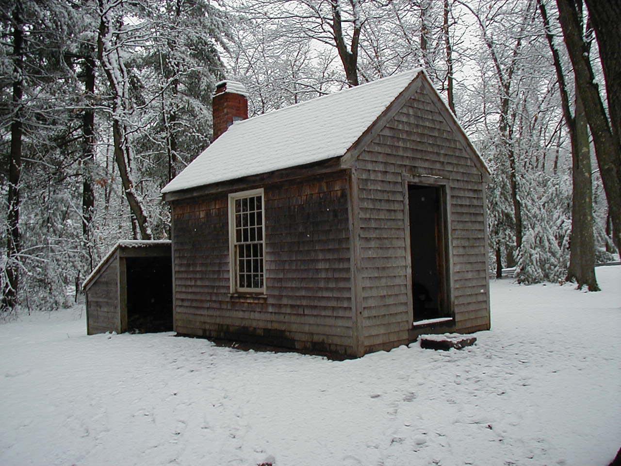 Replica of Thoreau's cabin near Walden Pond