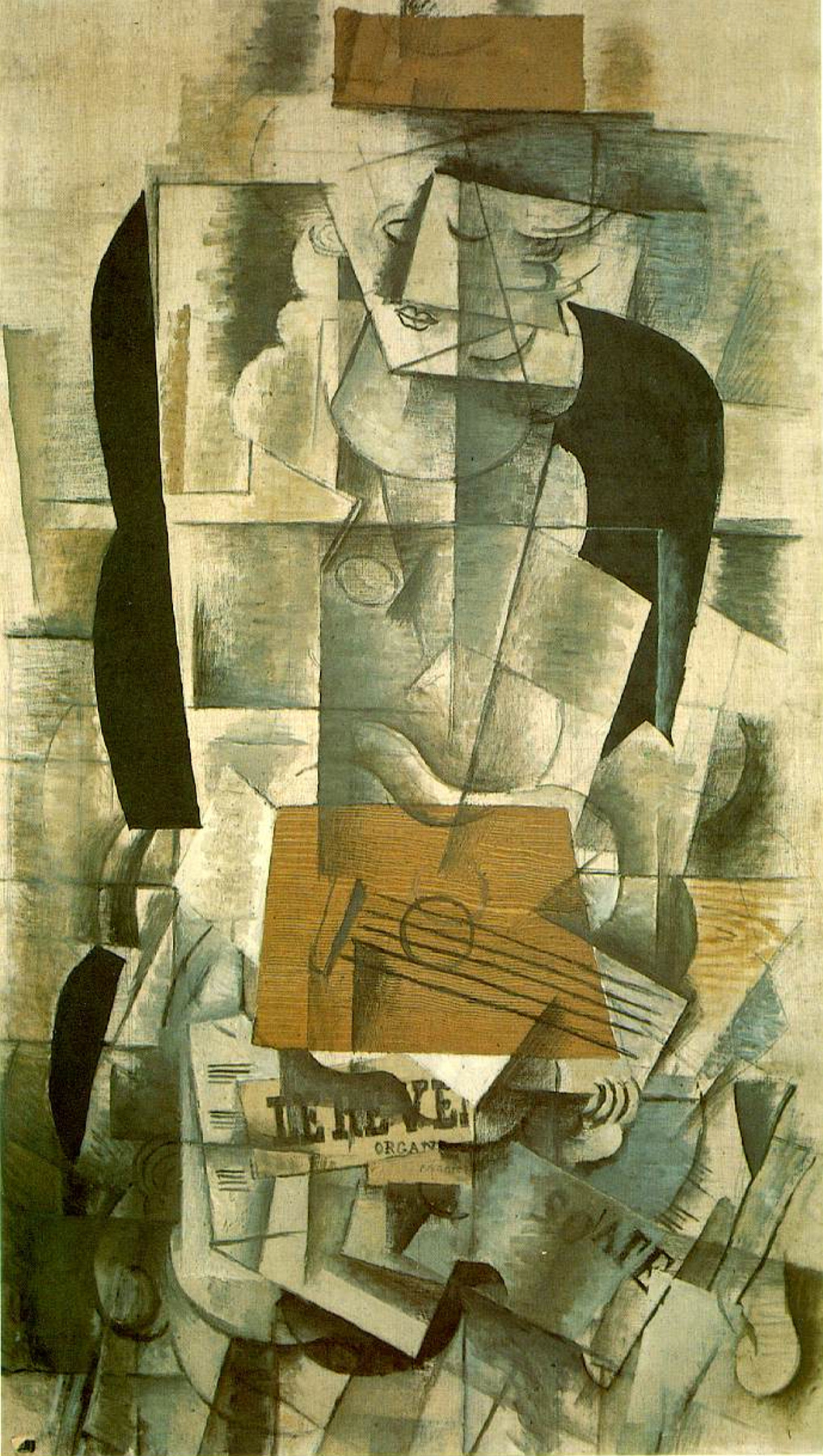 Woman with a Guitar by Georges Braque