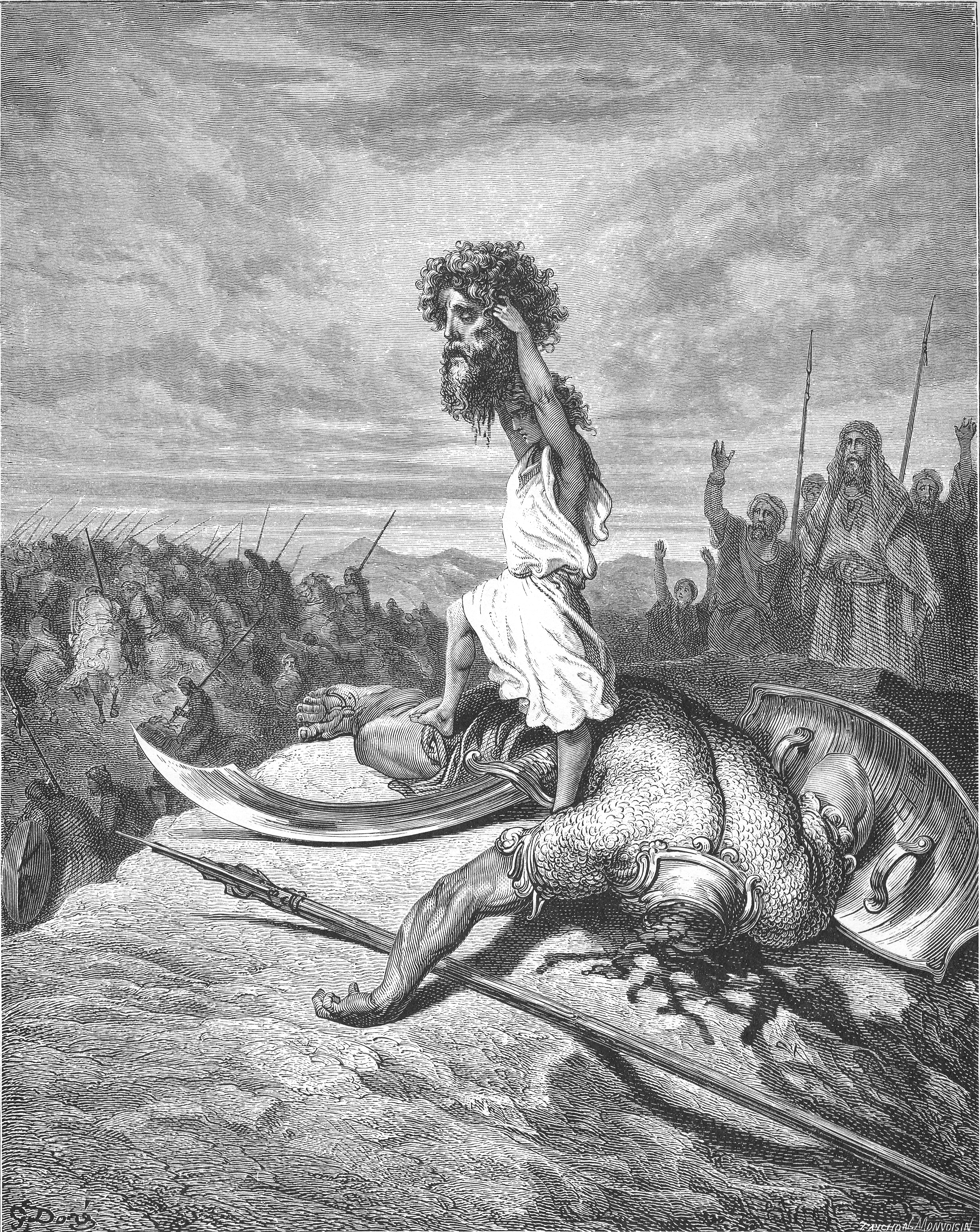 Severed head of Goliath by Gustave Doré (1866).