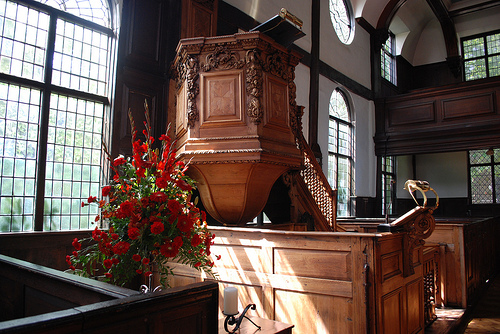 Ipswich Meeting House pulpit.
