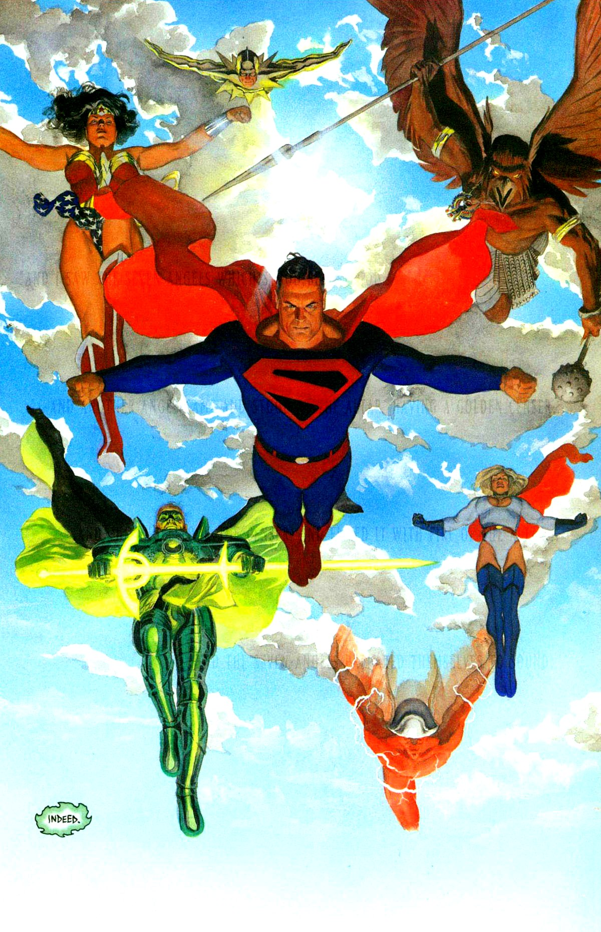 "Rev 15:1 ""And I saw another sign in heaven, great and marvelous, seven angels..."" Art by Alex Ross"