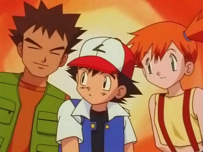 Brock, Ash, and Misty.