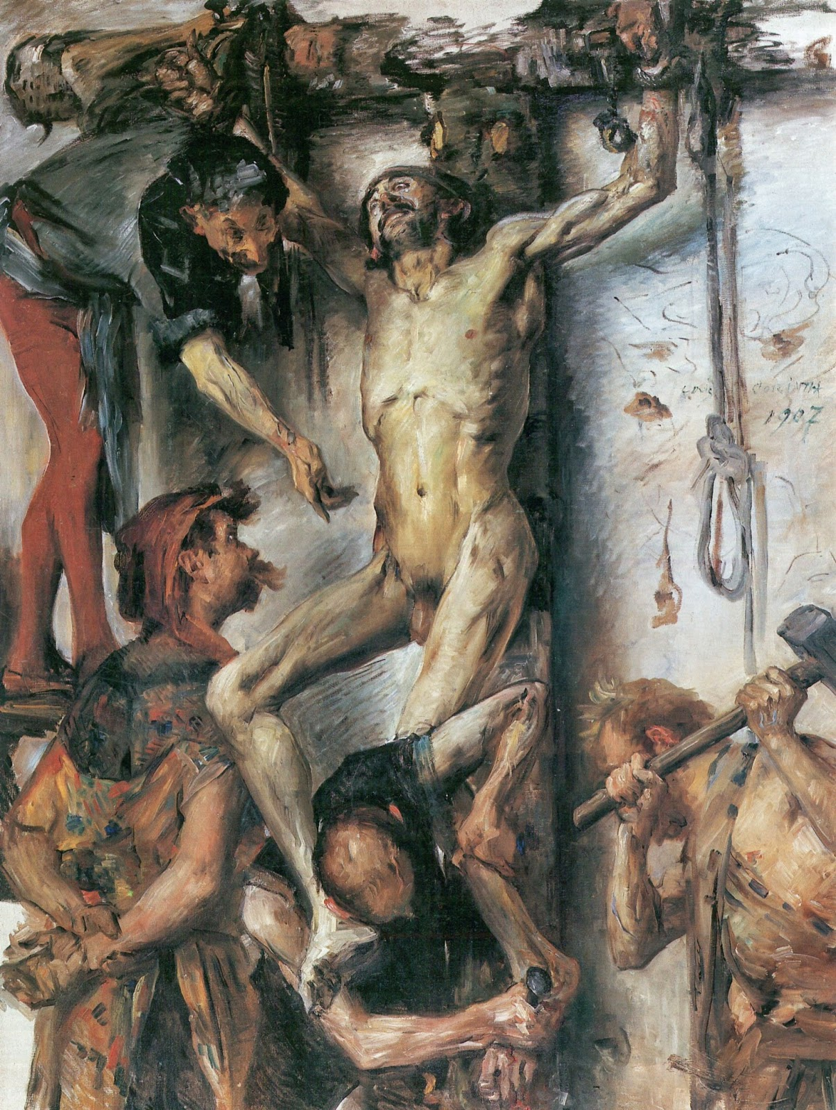 'The Great Martyrdom' by Lovis Corinth, 1907