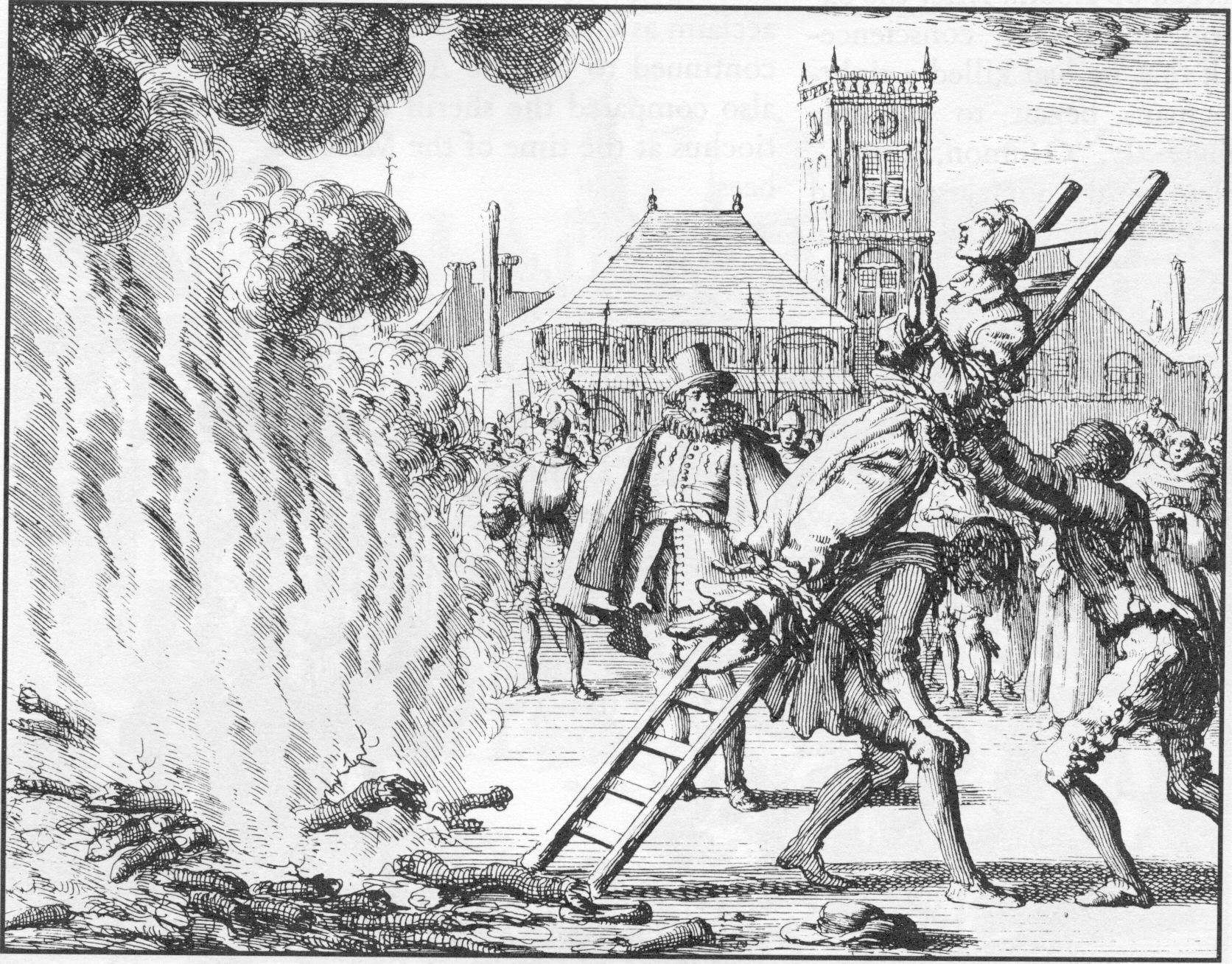 'Anabaptists' being burned.
