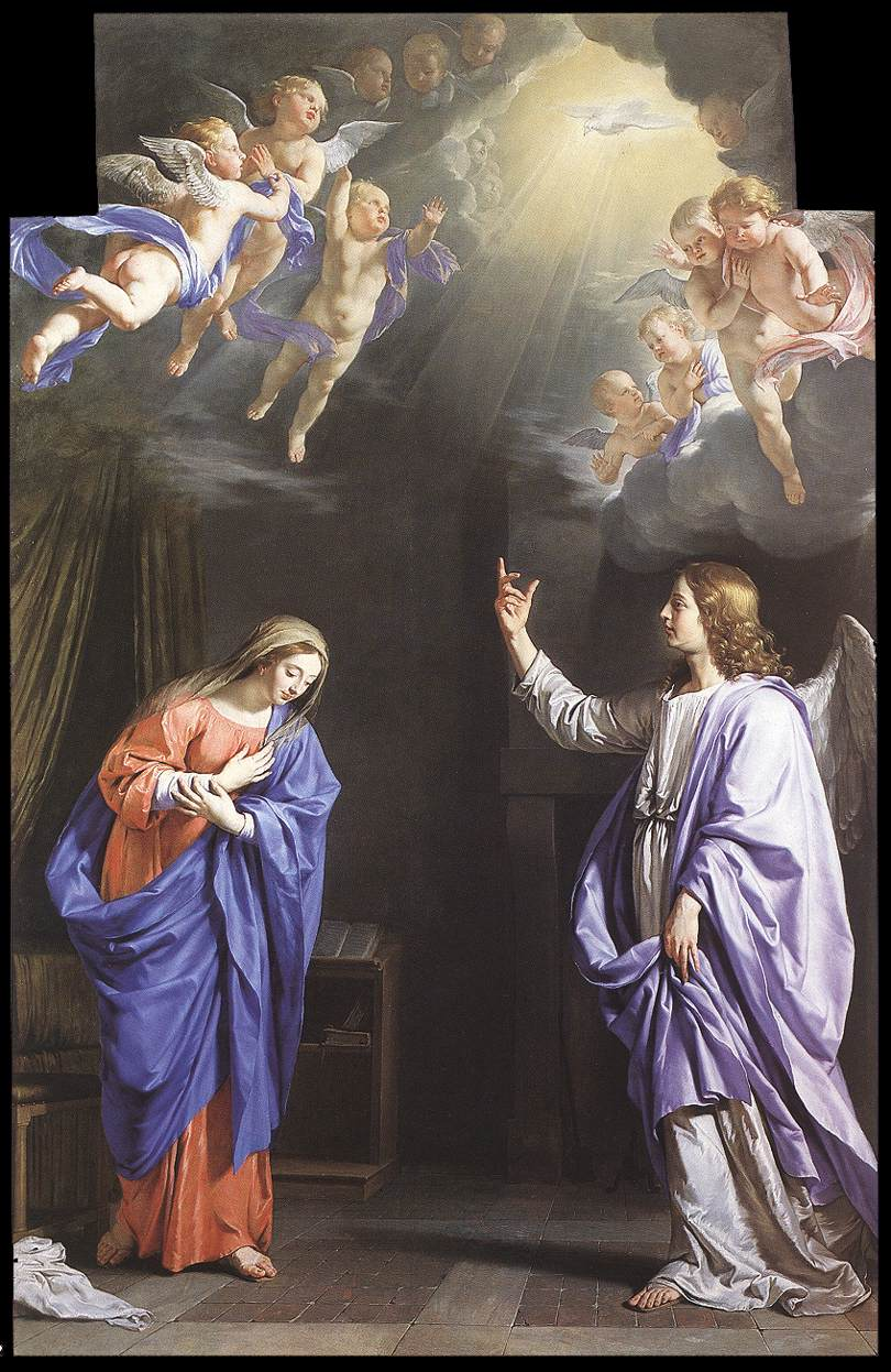 'The Annunciation' (Angel Gabriel appears to Mary) by Philippe de Champaigne