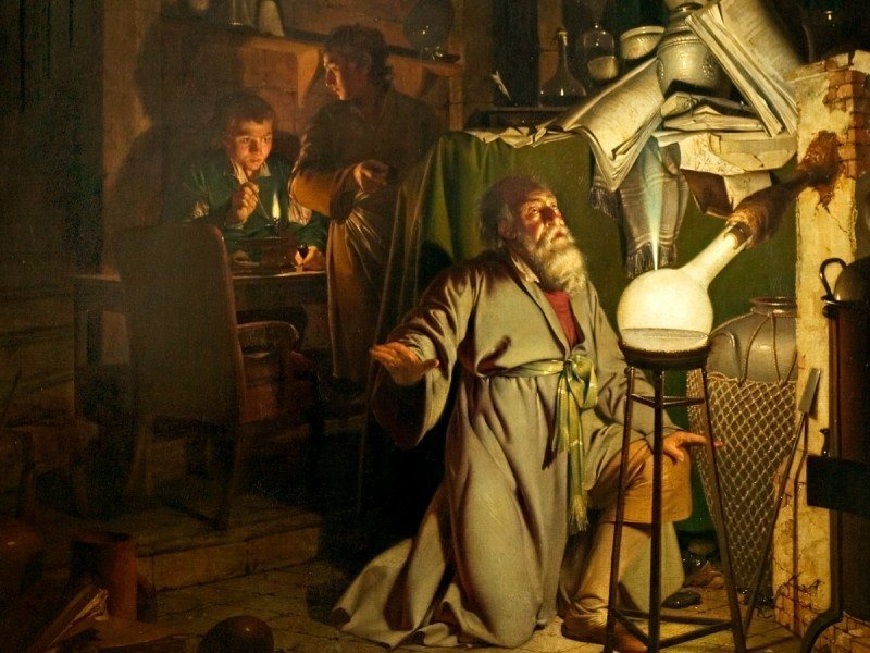 'The Alchemist' by Joseph Wright