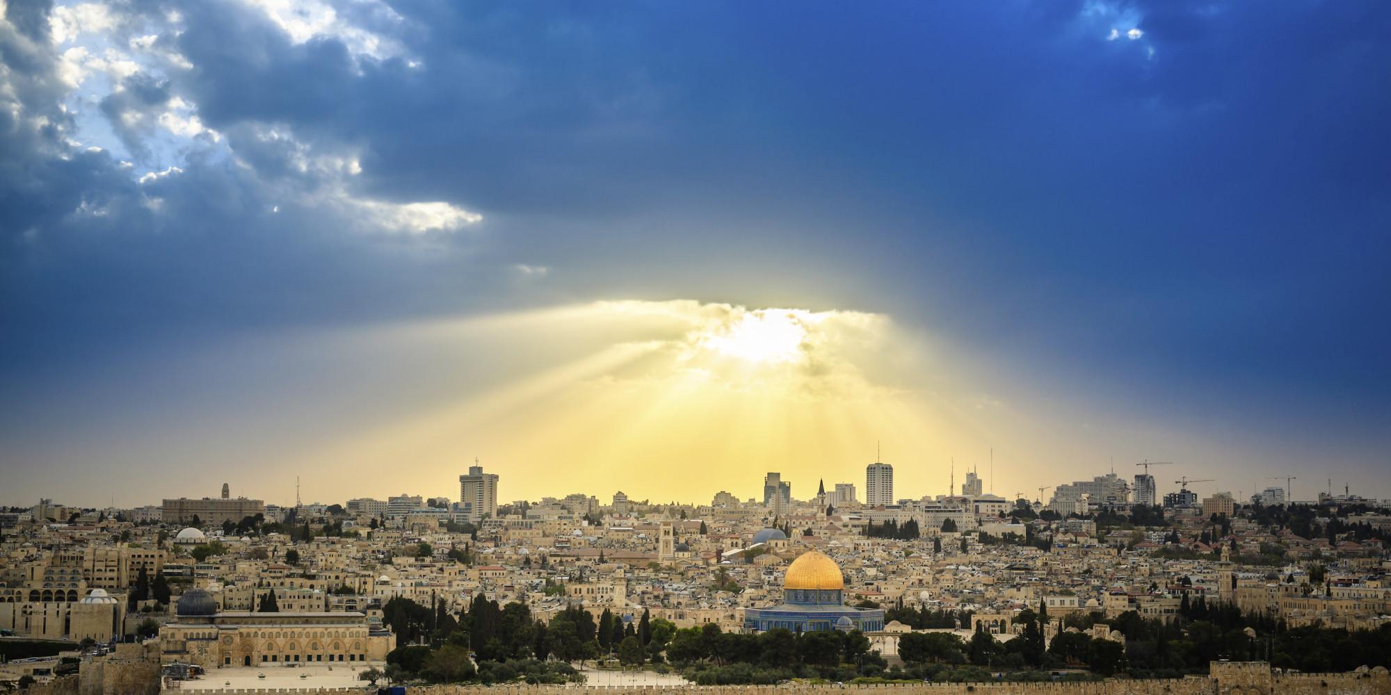 Sun above Jerusalem today.