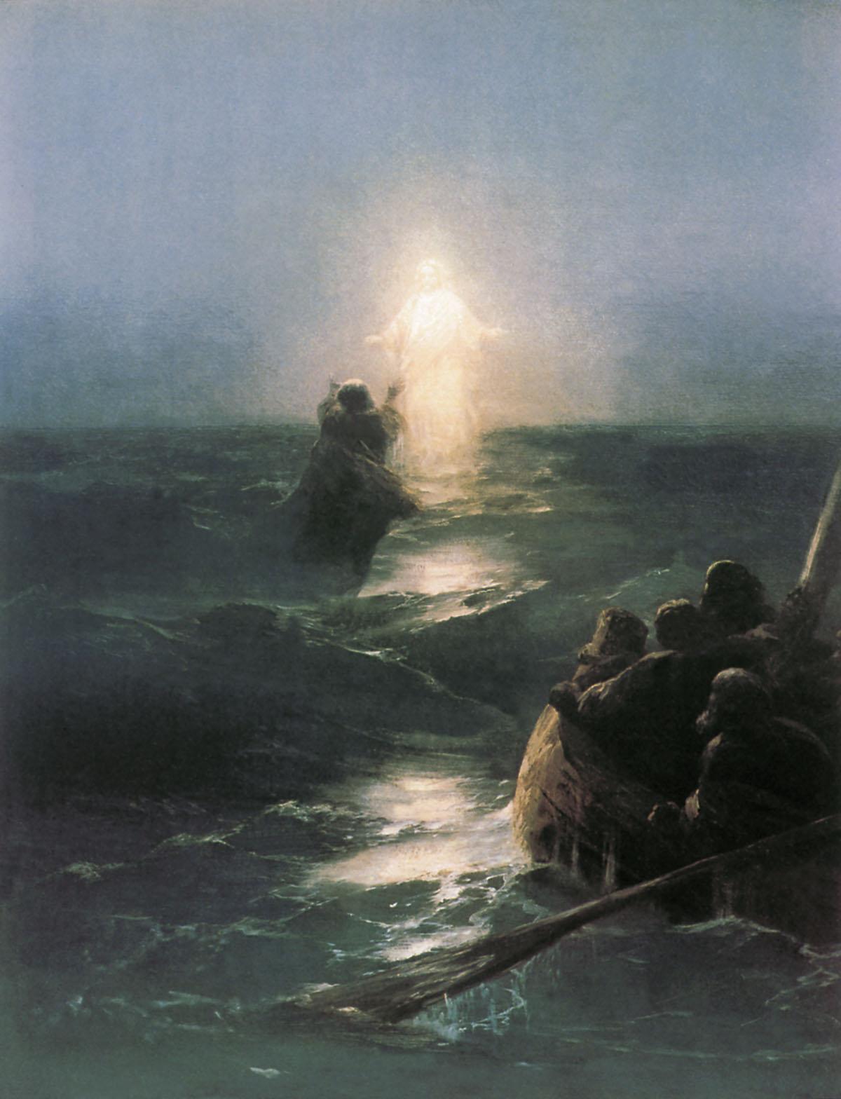 Jesus walks on water , by Ivan Aivazovsky, 1888