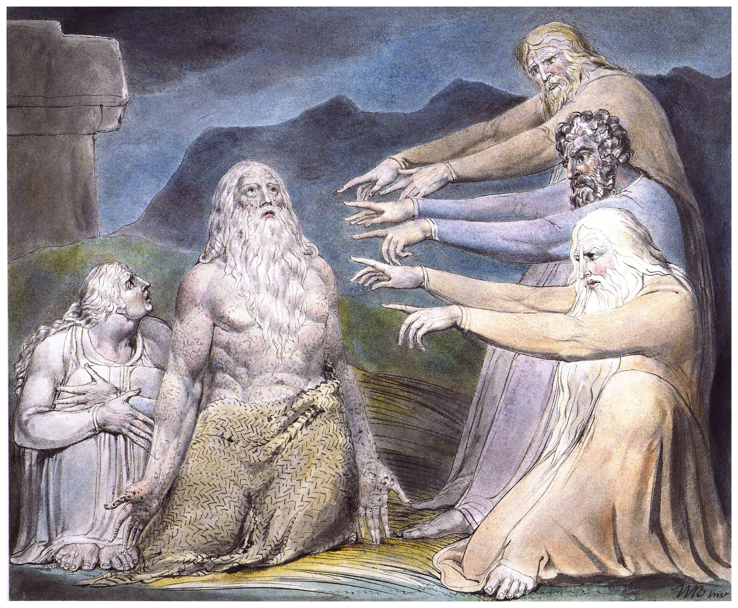 'Job Rebuked by his Friends', William Blake.