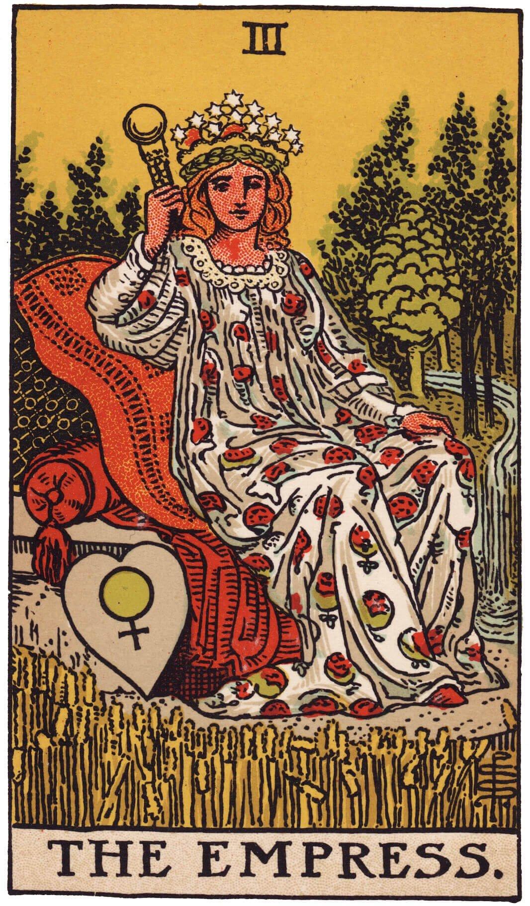 'The Empress' Tarot Card.