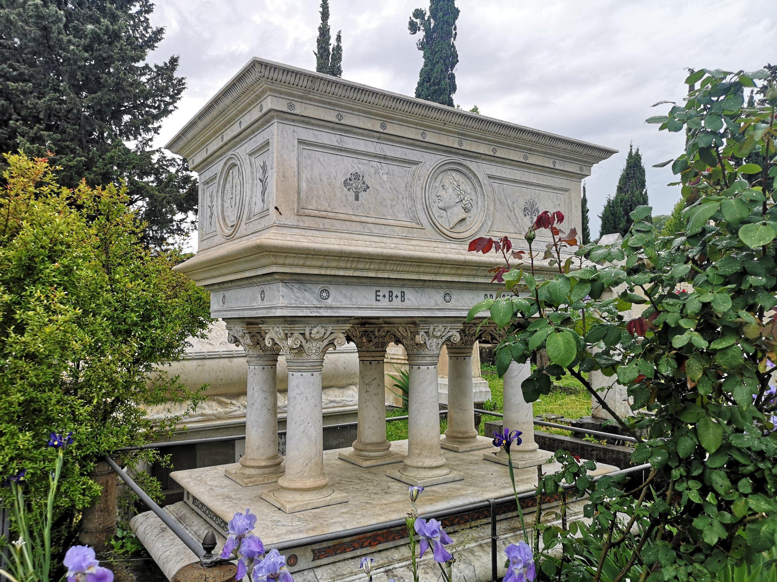 Elizabeth Barrett Browning's Tomb.