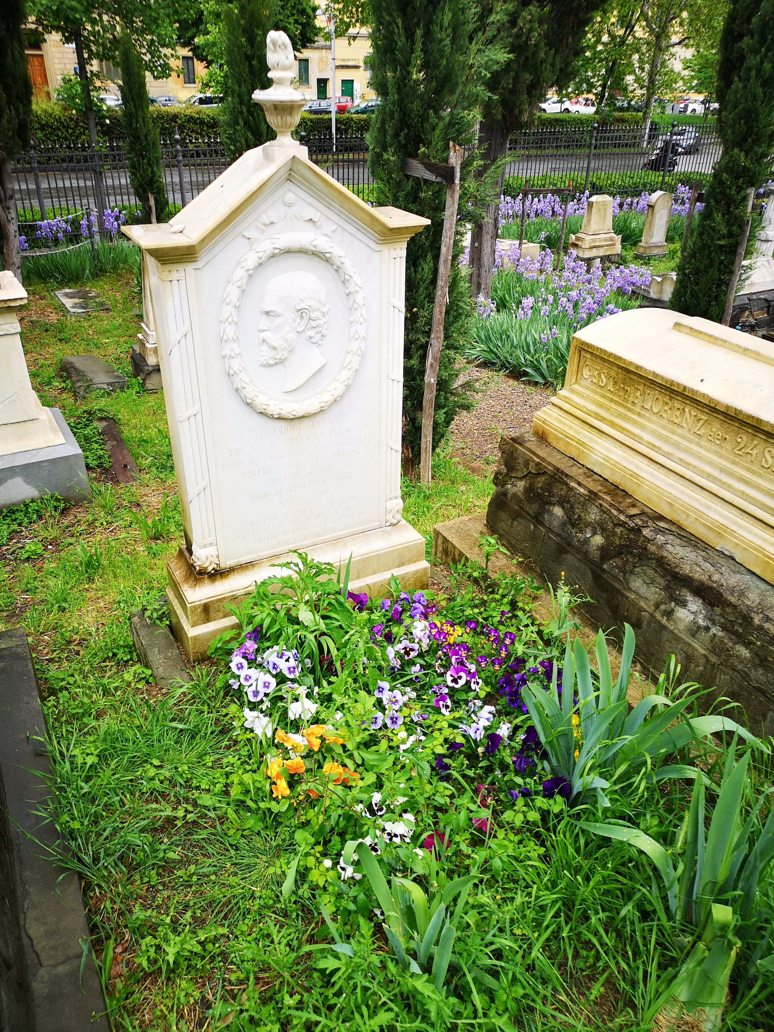 Theodore Parker's final resting place.