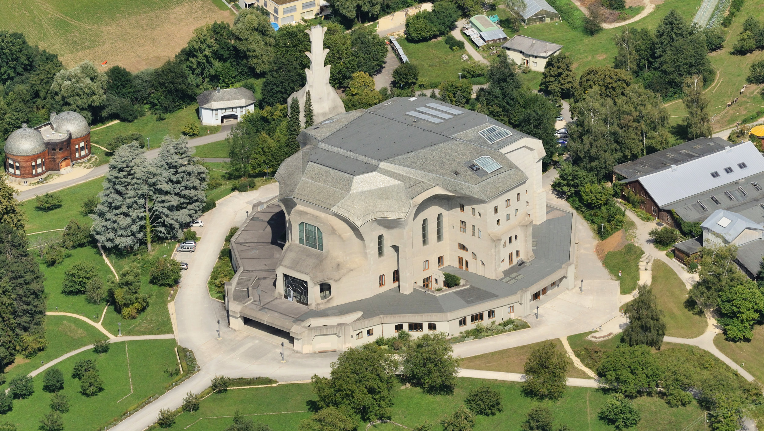 The Second Goetheanum (Built in 1928), the first one burnt down in 1922.