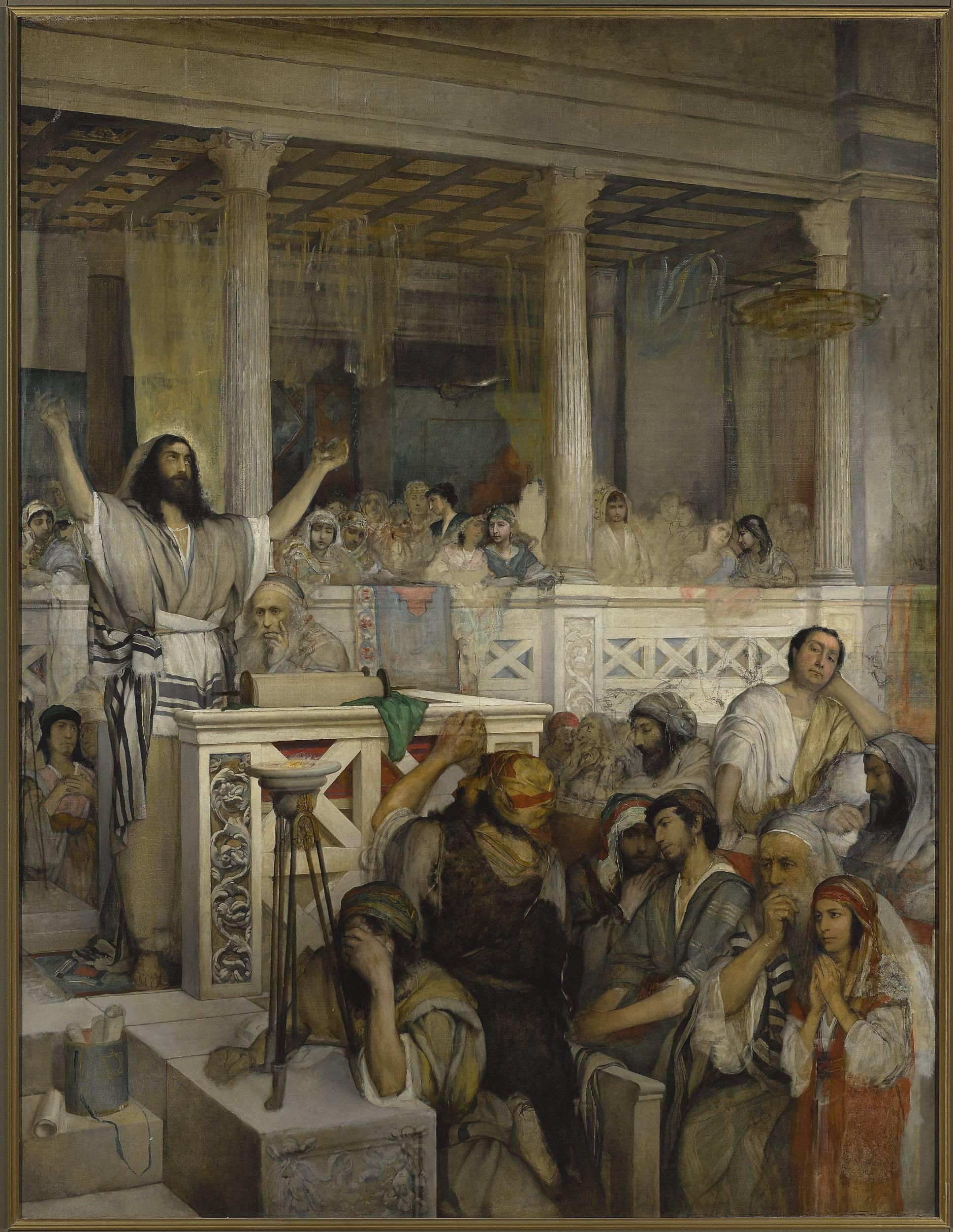 'Christ preaching' by Maurycy Gottlieb