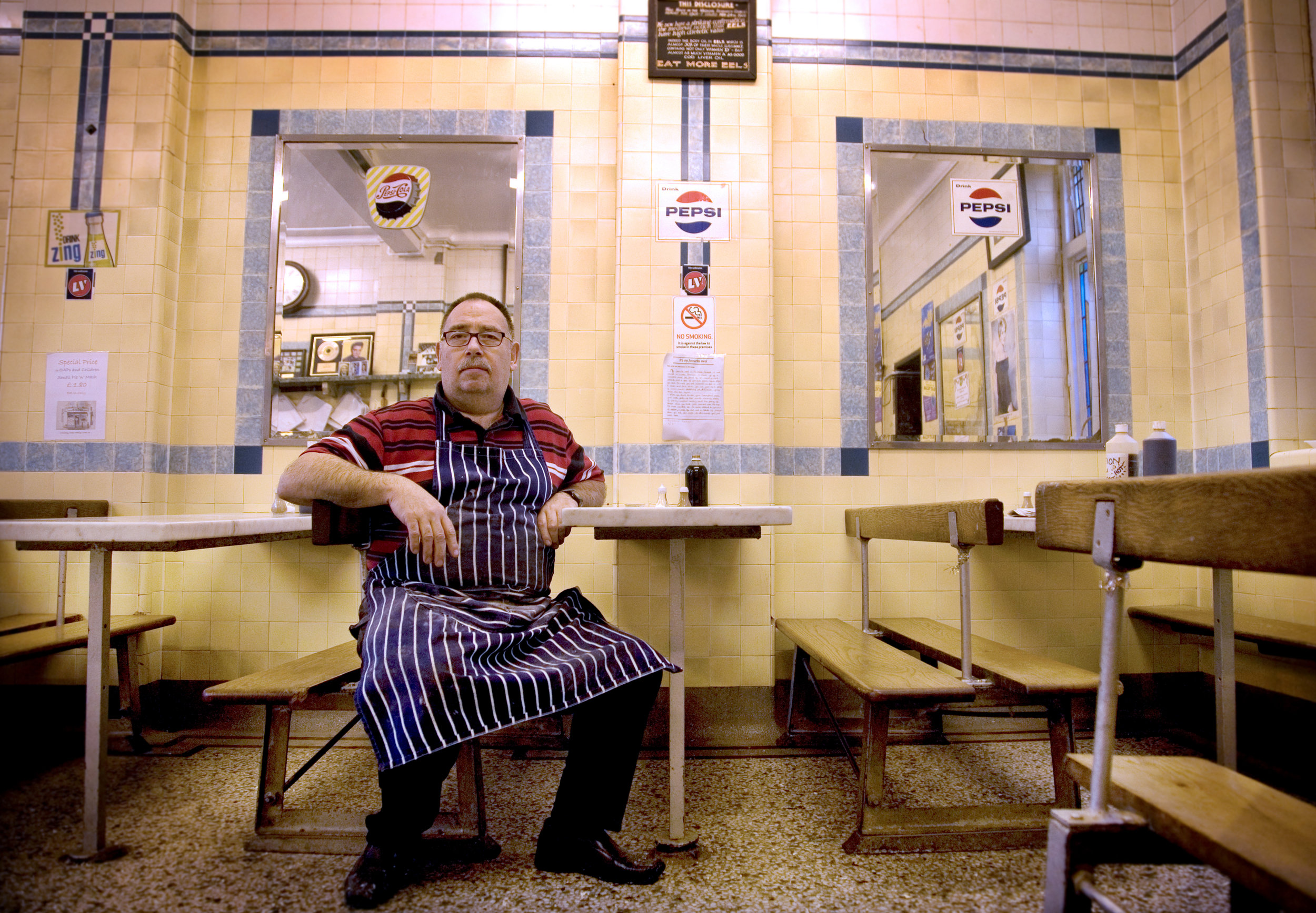 Bob Cooke ~ of F Cooke Pie and Mash Shop, Hoxton