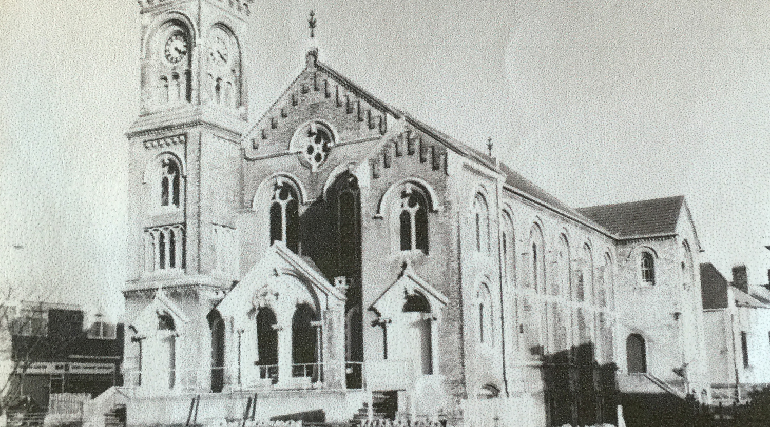 An early photo of the church