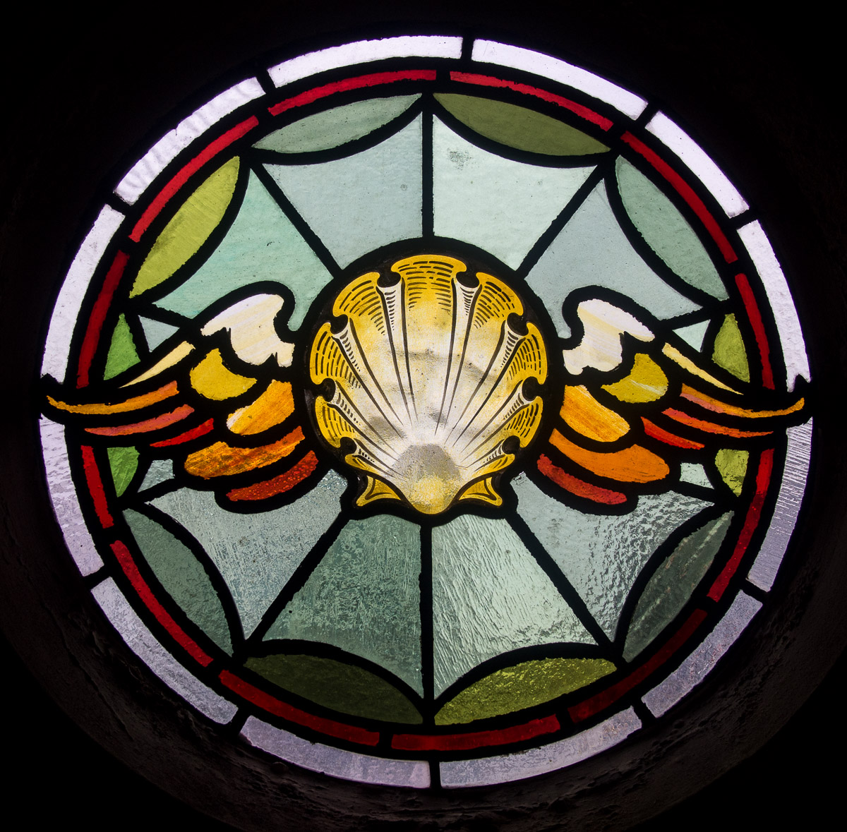 Detail of the stained glass windows
