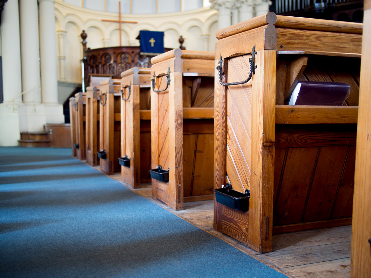 The panelled pews