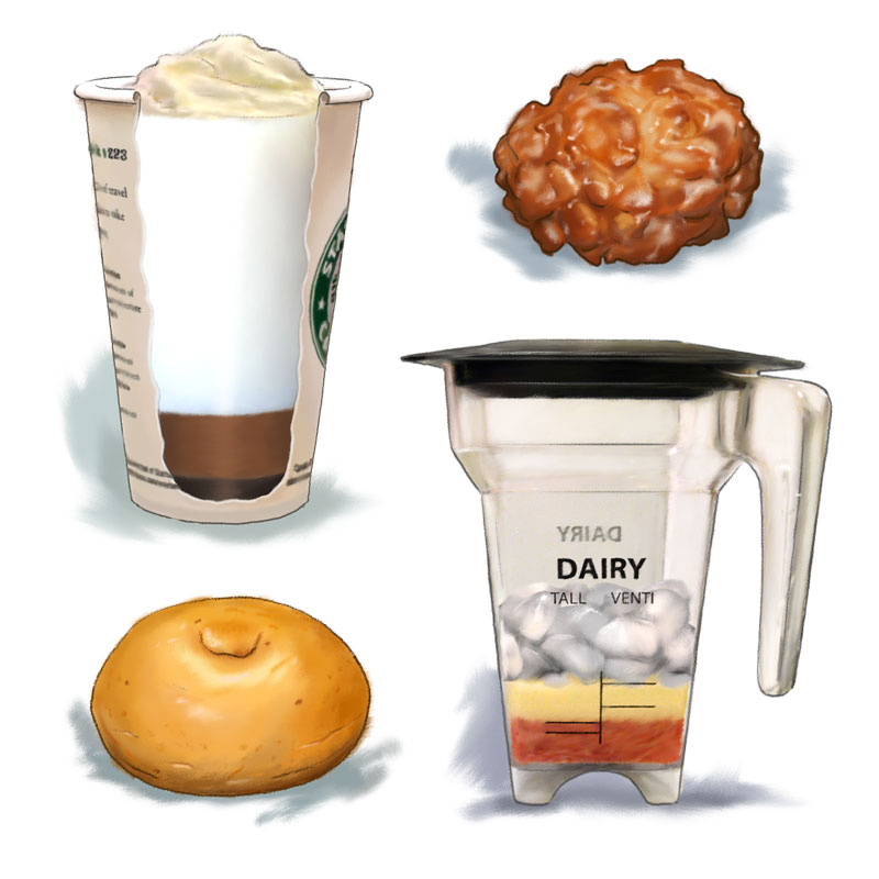 Spot illustrations / Training manual Client: Starbucks (2009)