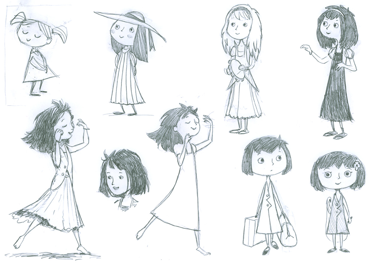 Character designs / The Story Of Belle & Wissell Client: Belle & Wissell (2008)