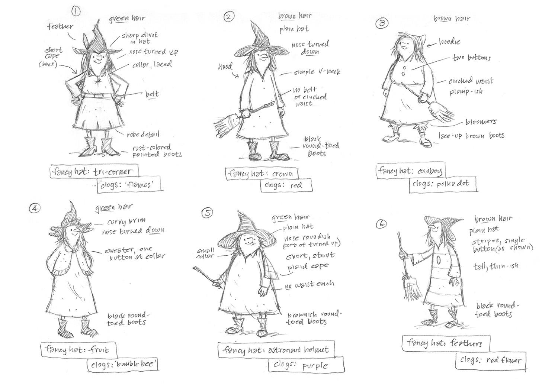 Character designs / It's Raining Bats & Frogs Feiwel & Friends, Macmillan Publishing (2015)