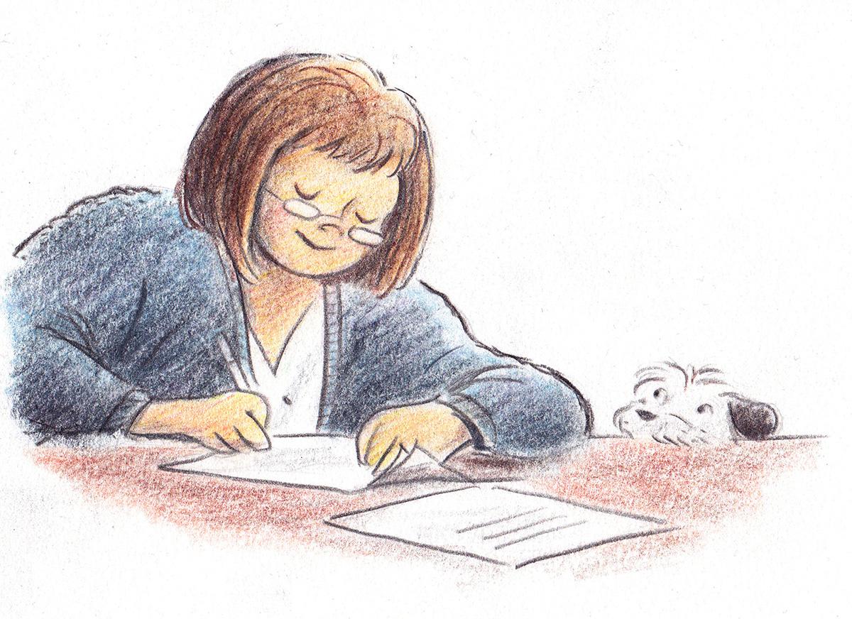 Character study / A Lucky Author Has A Dog   Arthur A. Levine Books / Scholastic (2013)