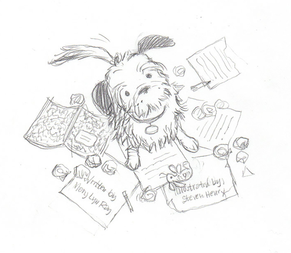 Unused cover art concept / A Lucky Author Has A Dog   Arthur A. Levine Books / Scholastic (2014)