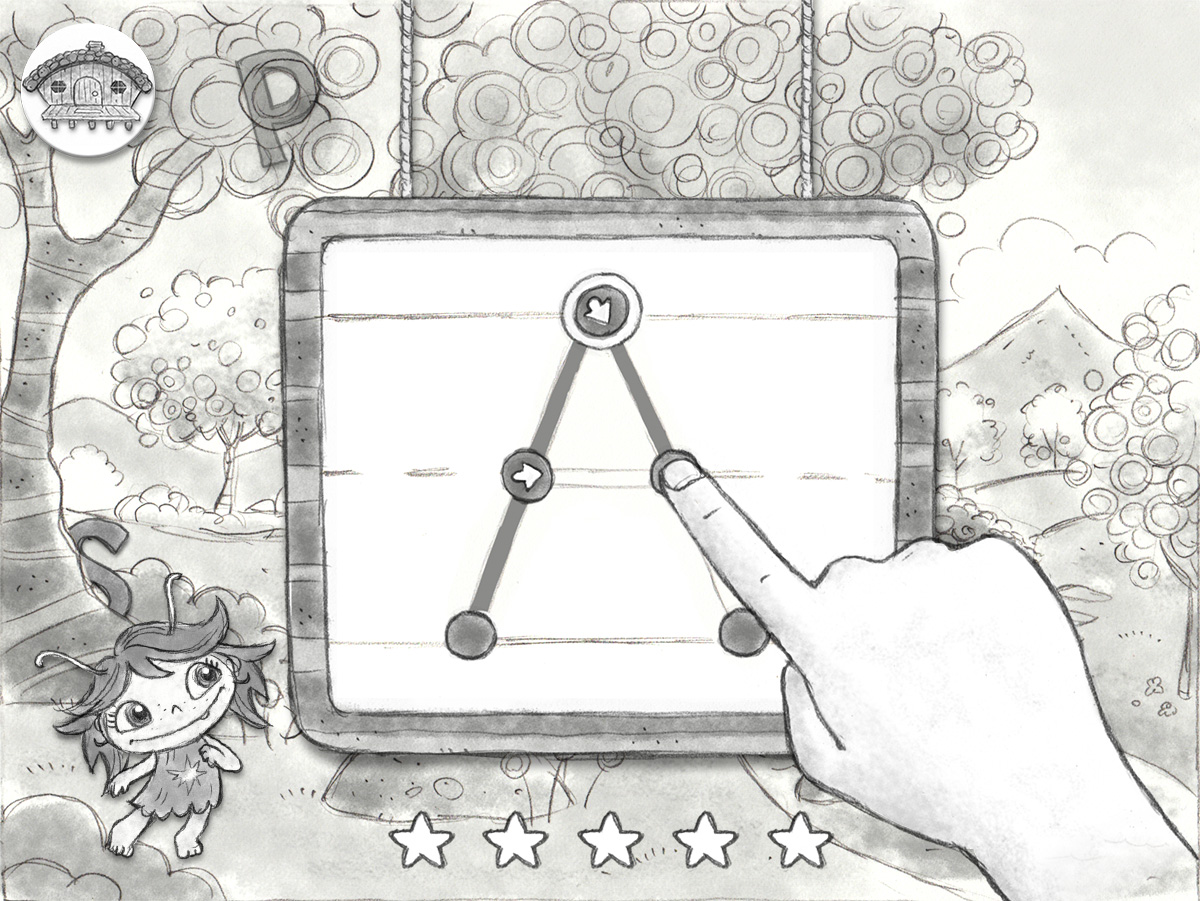 Concept sketch / Game proposal   Agency: Smashing Ideas   Client: Nick Jr. (2013)