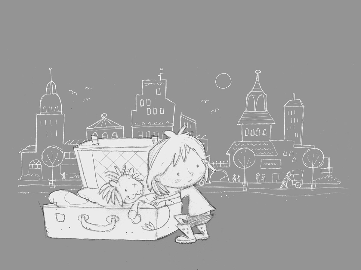 Concept sketch / Family Storytelling Experience exhibit   Agency: Belle & Wissell   Client: Microsoft (2013)