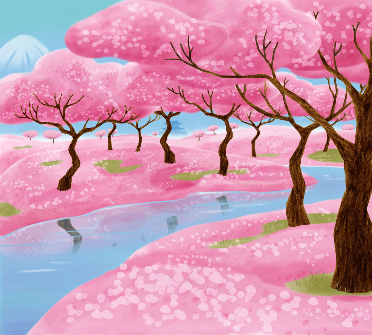 Scenic illustration / Family Storytelling Experience Agency: Belle & Wissell Client: Microsoft (2012)