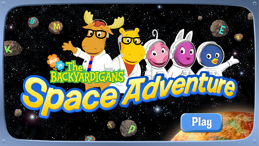Vector logo & 3D illustration / Backyardigans Space Adventure Agency: Smashing Ideas Client: Nick Jr. (2008)